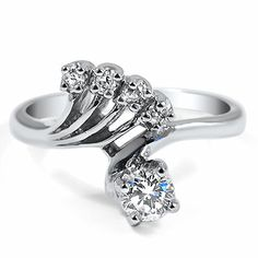 14K White Gold The Ashana Ring, large top view