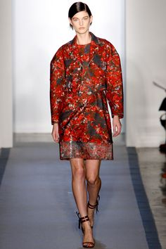 NYFW..Peter Som Fall 2012 RTW..Love the boldness of color, print, and broad shoulders