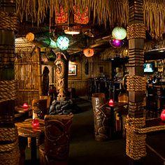 Frankie's Tiki Room - Las Vegas, NV. Do this to our basement columns!