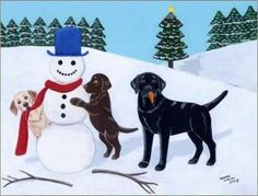 Labrador Retriever Christmas Cards & Decor