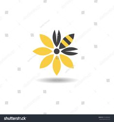 Find Bee Honeybee Flower Logo Icon Vector stock images in HD and millions of other royalty-free stock photos, illustrations and vectors in the Shutterstock collection. Bee On Flower, Flower Logo, Queen Bee Tattoo, Honey Bee Tattoo, Logo Bee, Bee Icon, Honey Logo, Bee Painting, Paper Collage Art