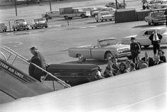 ST-527-9-63. Transfer of President John F. Kennedy's Casket to Air Force One - John F. Kennedy Presidential Library & Museum