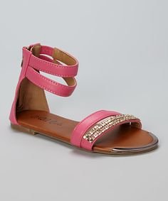 Look at this QQ Girl Fuchsia Julia Gladiator Sandal on #zulily today!