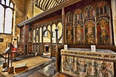 St. Helen's Church, Ranworth, Norfolk, featuring one of the finest remaining rood screens in the country. Beautiful. A must see.