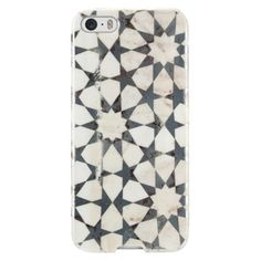 Agent 18 Slimshield-Marble Cell Phone Case for iPhone 5/5S - Multicolored (P5SL/153); love this (Mudejar?) in black and white