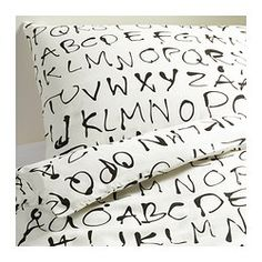 EIVOR ORD Quilt cover and 2 pillowcases - 150x200/50x80 cm - IKEA