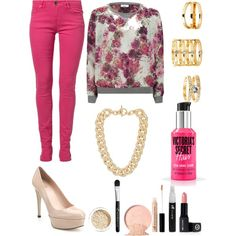 A fashion look from January 2015 featuring ONLY sweatshirts, Morgan jeans and Stuart Weitzman pumps. Browse and shop related looks.