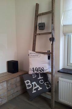 Ladder van oud steigerhout