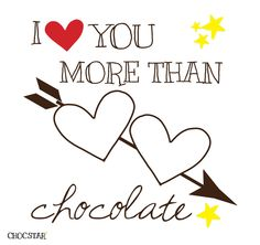 CHOCSTAR - hartendiefjes - I love you more than chocolate - http://www.chocstar.nl/favoriete-chocolade-samenstellingen/hartendiefjes-1/i-love-you-more-than-chocolate.html