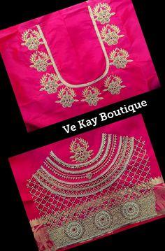 Cutwork Blouse Designs, Wedding Saree Blouse Designs, Simple Blouse Designs, Stylish Blouse Design, Hand Embroidery Design Patterns, Aari Embroidery, Hand Work Blouse Design, Maggam Work Designs, Blushes