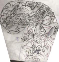 japanese tattoos symbols and meaning P Tattoo, Sak Yant Tattoo, Body Art Tattoos, Sleeve Tattoos, Japanese Tattoo Art, Japanese Dragon Tattoos, Japanese Tattoo Designs, Dragon Tattoo Chest, Chest Tattoo