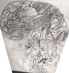 japanese tattoos symbols and meaning Koi Tattoo Sleeve, P Tattoo, Sak Yant Tattoo, Full Sleeve Tattoo Design, Body Art Tattoos, Chest Tattoo Japanese, Japanese Tattoo Women, Japanese Dragon Tattoos, Japanese Tattoo Designs