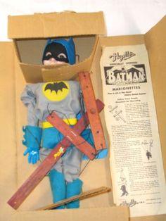 Vtg 60's Hazelle's Batman Marionette Puppet Toy WT Box   eBay
