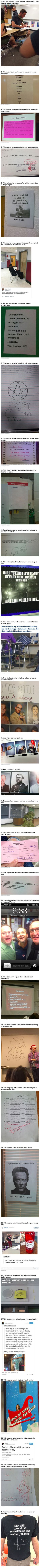 Here are some funny and nerdy teachers who make school interesting.