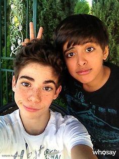 Karan Brar And Cameron Boyce Hanging Out Today (October 25, 2012)