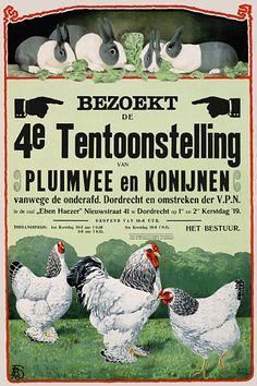 Visit the Poultry & Rabbit Exhibition, 1919   http://www.vintagevenus.com.au/vintage/reprints/info/AN179.htm