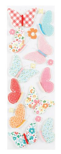 Martha Stewart Crafts - Stitched Collection - Stickers - Butterfly at Scrapbook.com $4.39