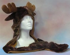Moose Hat with Hand Warmers :: Moose Hats :: Adult Clothing :: Mooseville Moose Gifts