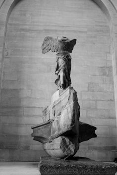 This is one my favorite pieces!!!Nike of Samathrice..Winged Victory..at the Lourve. Alan gave me a replica for college graduation gift