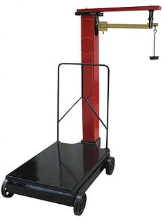 Balance beam Scale with hanger and wheels for mobile weighing of products. Balance Beam, Weighing Scale, Drafting Desk, Beams, Hanger, Wheels, Products, Scale, Clothes Hanger