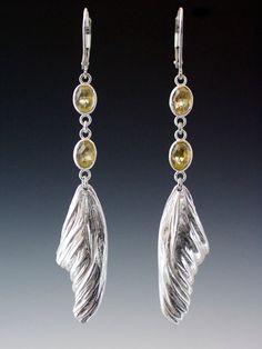 Lemon Butterfly Earrings