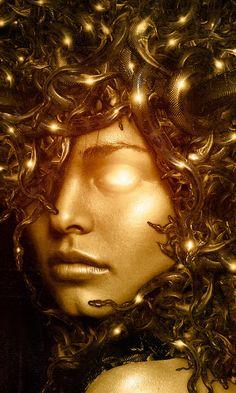 Medusa - dont ask. idk why. i just like medusa Medusa Kunst, Medusa Art, Medusa Gorgon, Greek And Roman Mythology, Greek Gods, Mythological Creatures, Mythical Creatures, Turn To Stone, Gods And Goddesses