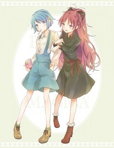 Sayaka and Kyoko ||| Puella Magi Madoka Magica Fan Art