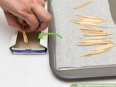 How to Make Cinnamon Toothpicks: 9 Steps (with Pictures) - wikiHow Cinnamon Toothpicks, Flavored Toothpicks, Preserves, Holiday Recipes, Spices, Sweets, Homemade, Crafty, Canning