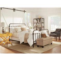 Found it at Wayfair - Fulton Bed - Guest Bedroom Guest Bedrooms, Bedroom Sets, Home Bedroom, Bedroom Apartment, Bedroom Decor, Guest Room, Master Bedroom, Wrought Iron Beds, Bedroom Hacks