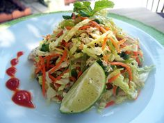 Vietnamese Style Chicken and Cabbage Salad #paleo