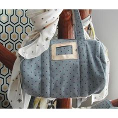 Sac DIXIE DOT BLUE April Showers by Polder