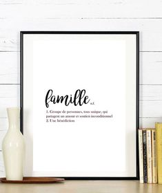 inspire print // black and white home decor // typographic office decor // minimalistic print // office decor // inspirational print Family Poster, Welcome To My House, Blessed Quotes, Quote Citation, Mothers Day Quotes, French Quotes, White Home Decor, Simple Words, Motivational Quotes