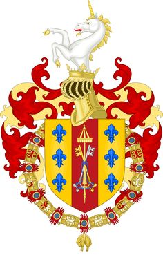 Coat of Arms of the Duke Octavius Farnese (1547-1586).svg