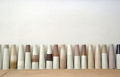 vases all in a row by kristie van noort