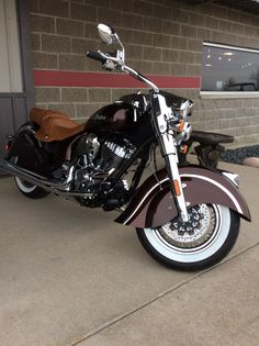 We painted this 2016 Vintage Chief Indian Motorcycle a Rootbeer color.