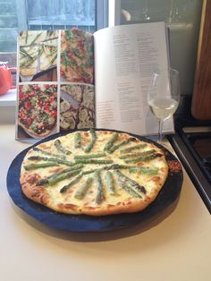 Asparagus and Mozzarella Pizza - Friday night pizzas are taken to a whole new level! #afreerangelife @Annabel Langbein