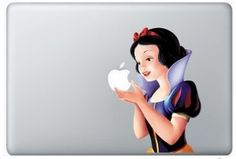 my favorite princess...she gets along better with dudes, gets mad beauty sleep, and finds a prince not concerned about 100 year old morning breath.  love her and love this macbook skin.