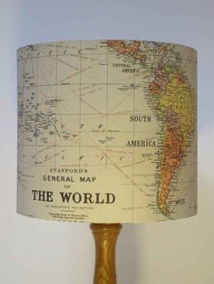 Light up your life with this vintage map-covered lampshade. #homedecorapartment