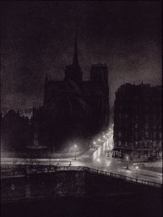 "Brassai (Gyula Halasz) Notre Dame from the Ile Saint-Louis From ""Paris by Night"" 1933"
