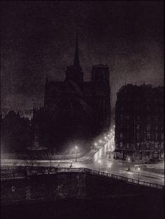"Brassai (Gyula Halasz)  Notre Dame from the Ile Saint-Louis  From ""Paris by Night""  1933"