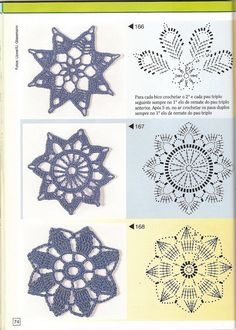 "Il blog di Vera Maglia&Uncinetto: varie decorazioni uncinetto ?ideale anche come orecchini"" Crochet Snowflake Pattern, Crochet Stars, Crochet Quilt, Crochet Snowflakes, Crochet Blocks, Crochet Stitches Patterns, Doily Patterns, Crochet Motif, Irish Crochet"
