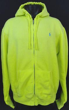 Ralph Lauren Full Zip Men Yellow Sporty Jackets