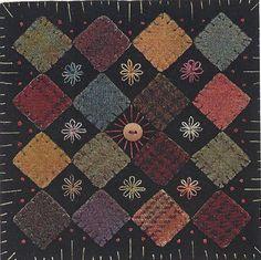 Primitive Folk Art | Primitive Folk Art Wool Applique Pattern: BLOCK GARDEN by Front Porch ...