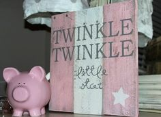 Twinkle Twinkle Little Star rustic, wooden sign made from reclaimed pallet wood on Etsy, $25.00