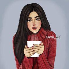 """2,845 Likes, 169 Comments - Sara Ahmed (@sarra_art) on Instagram: """"ليالي الشتاء خُلقت للسهر، للحنين ، للقهوه وللنَوم على صَوْت من نُحب ❄️☕️"""""""