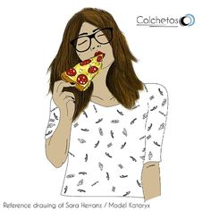 Pizzaaaa  Model @kataryx  Reference art @saraherranz Old piece 2016 . . . #Pizza #Pornfood #Pizzabae #pizzagirl #tumblrgirl #digitalart #Draw #Drawing #Art #Fanart #Artist #Illustration #doodle #Arthelp #Anime #Manga #Otaku #Gamer #Nerdy #Nerd #Comic #Geek #Geeky