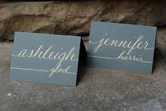 Custom Wedding & Event Name Card / Placecard / Calling Card  Personalized Hand Calligraphy - Made to Order   #PintoWin #Anthropologie