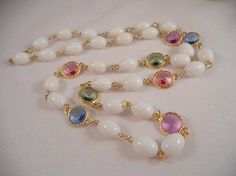 Chain Necklace Designed of Lovely Vintage by AprilSnowJewelry, $20.00
