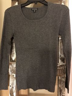 cc7ad1d7efcea Cable   Gauge Size Large L Grey Charcoal Sweater New Womens Shirt