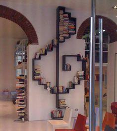 Treble clef bookshelf #coolest #bookshelves